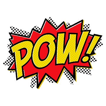 POW! Comic Sticker & T-Shirt - Gift For  by TheTeeMachine