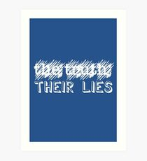 Paramore: Scribbled Out the Truth with Their Lies - WHT Art Print