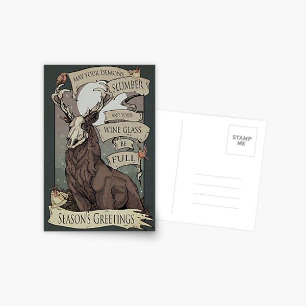 Mögen deine Dämonen Postkarte