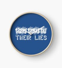 Paramore: Scribbled Out the Truth with Their Lies - WHT Clock