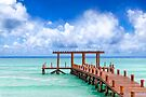 A Beautiful Caribbean Sea Pier In Playa del Carmen by Mark Tisdale