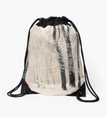 Winter Woodland Visitor Drawstring Bag