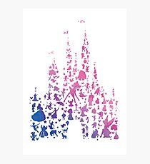 Character Castle Inspired Silhouette Photographic Print