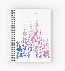 Character Castle Inspired Silhouette Spiral Notebook