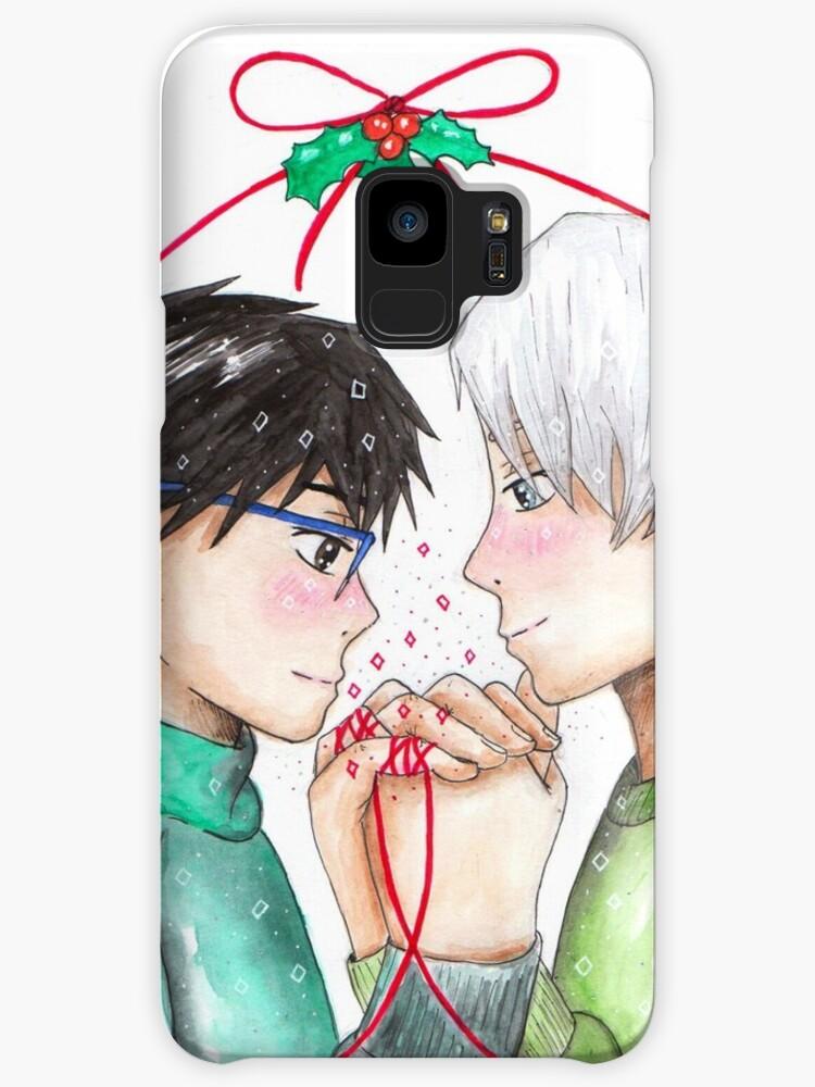 Yuri and Victor Christmas Drawing - Yuri on Ice\