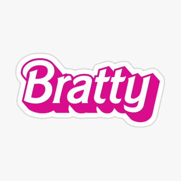 Bratty Barbie Logo for the little in your life who loves Age Play Sticker