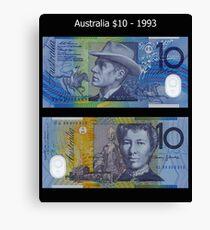 Australia $10 - 1993 Canvas Print