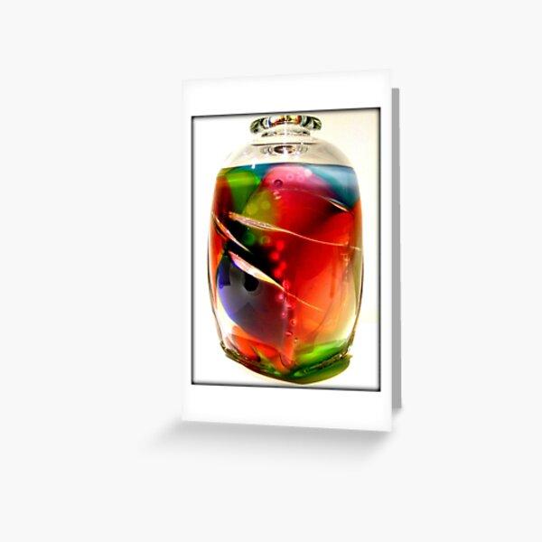 Fancy Glass Greeting Card