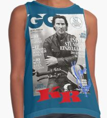 Keanu Reeves GO Magazine (With His Signature) Contrast Tank