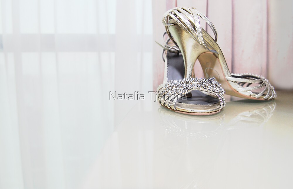 the shoes that walked down the aisle with the bride by Natalia Tjandra