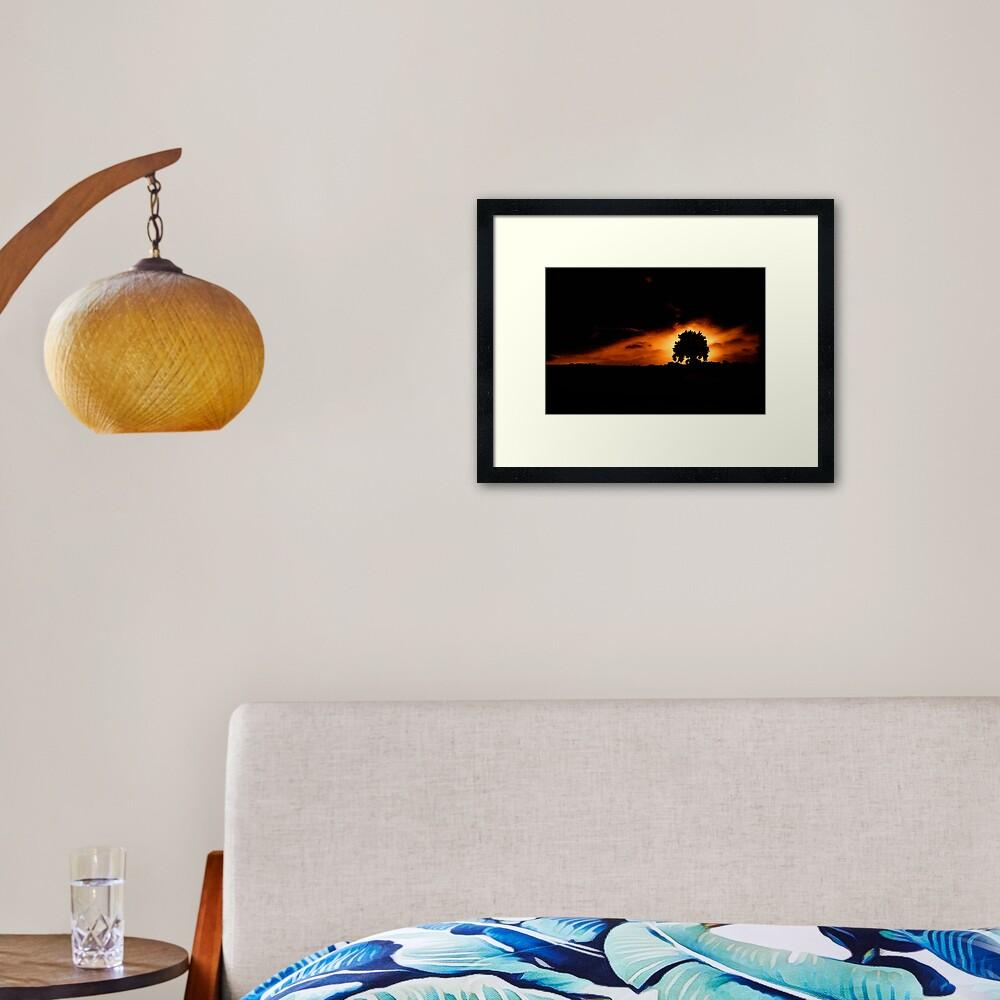 Tree, Darkness Framed Art Print