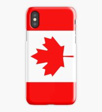 Flag of Canada   Red Maple Leaf   Independence symbol iPhone Case