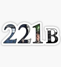 SuperWhoLock Important Things Within 221B Sticker