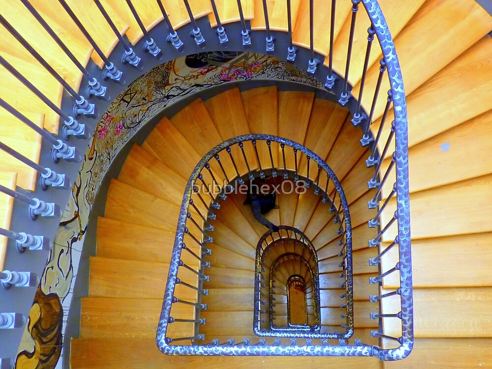 Artistic stairway by bubblehex08