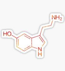 Serotonin Sticker & T-Shirt - Gift For Scientist College Sticker