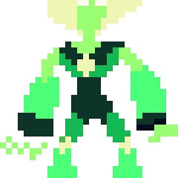 Pixel Peridot by raving-ravenpaw