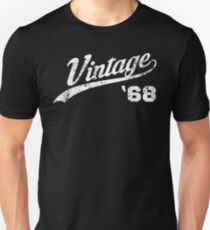 1968 Vintage Birthday Unisex T Shirt
