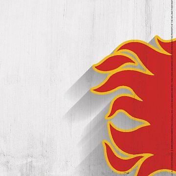 Calgary Flames Minimalist Print by SomebodyApparel