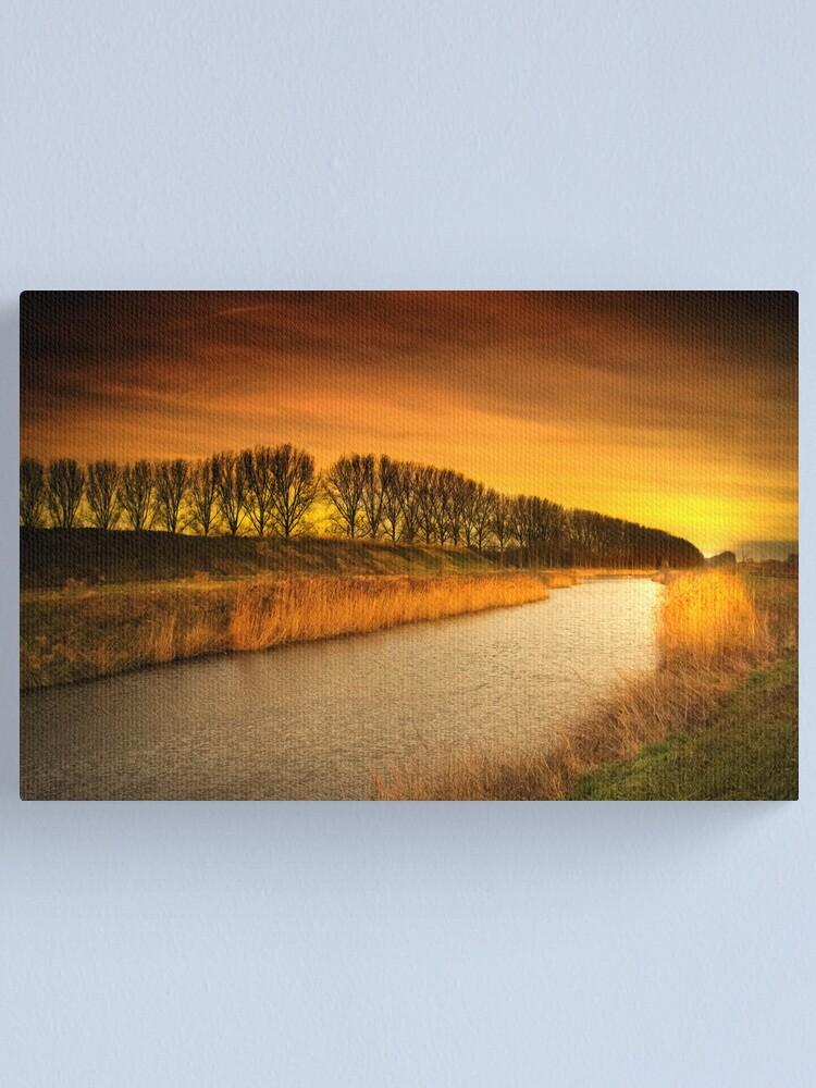 Alternate view of Burning stream Canvas Print