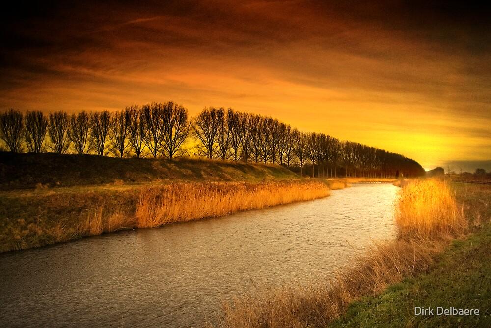 Burning stream by Dirk Delbaere