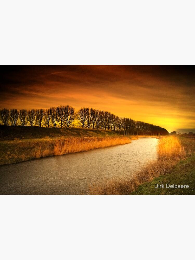 Burning stream by Delbaere