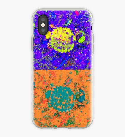 A Sequence of Toddler Turtles – Blue & More iPhone Case