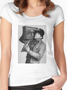 LL Cool J B/W Women's Fitted Scoop T-Shirt