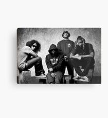Black Hippy B/W Metal Print
