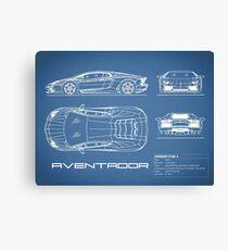 The Aventador Blueprint Canvas Print