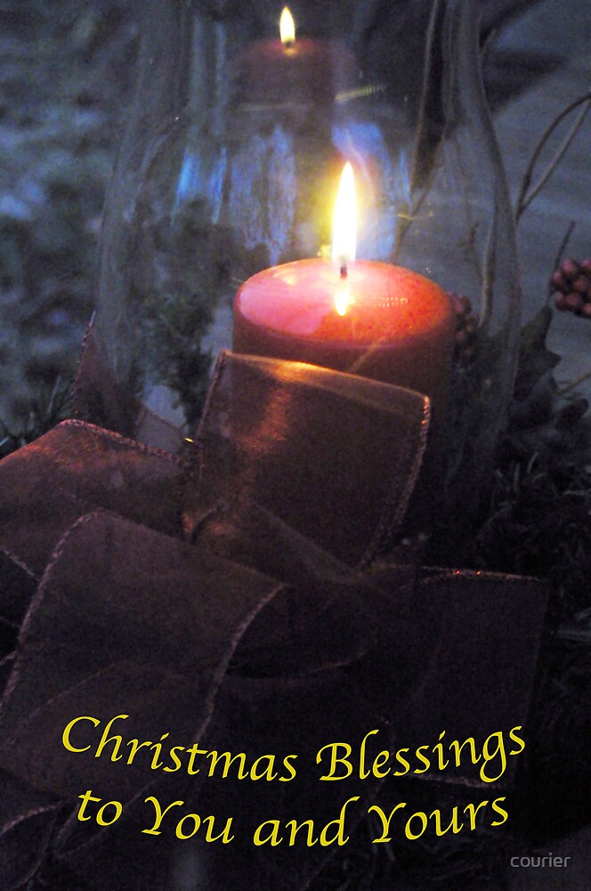 Christmas Blessings by courier