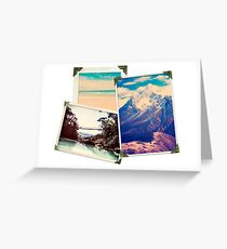 Old Adventure Travel Photos Greeting Card