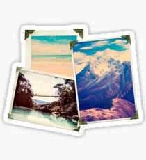 Old Adventure Travel Photos Sticker