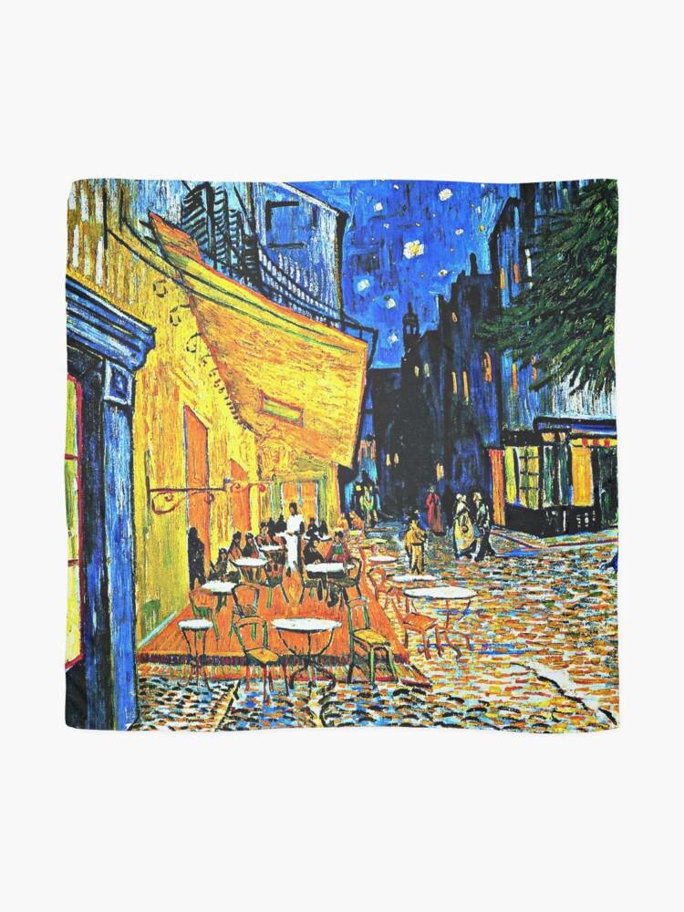 Alternate view of Van Gogh - Cafe Terrace, Place-du-Forum-Arles Scarf