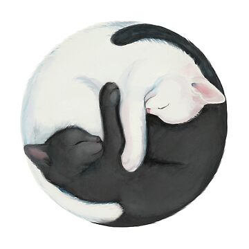 Yin Yang Balancing Cats by stylecomfy