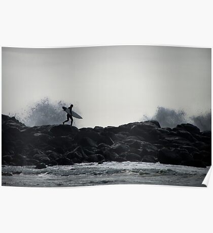 Hit the surf Poster