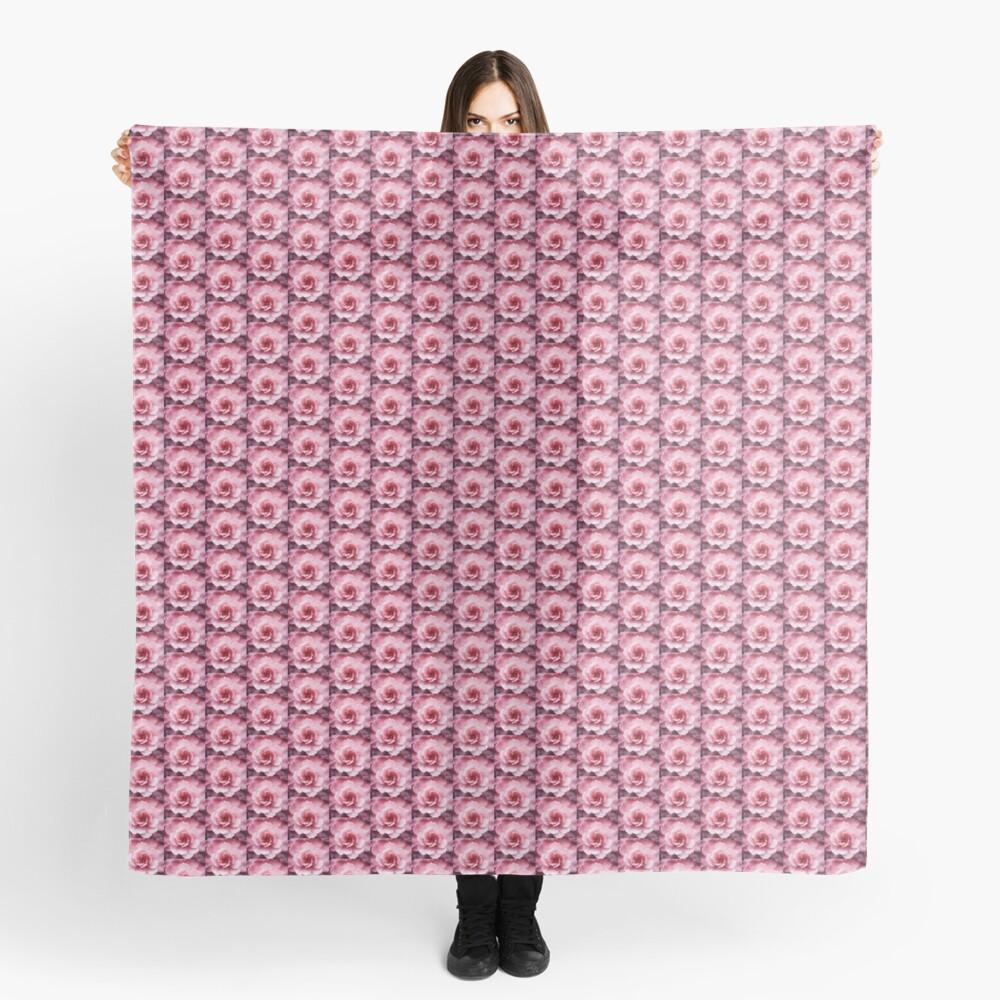 Soft Pink Flower Scarf