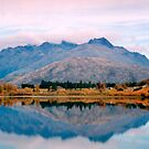 Lake Hayes reflections by Norman Repacholi