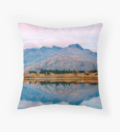 Lake Hayes reflections Throw Pillow