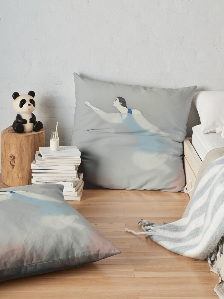 Alternate view of Water Woman VIII Floor Pillow