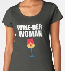 Wine-der Woman Women's Premium T-Shirt