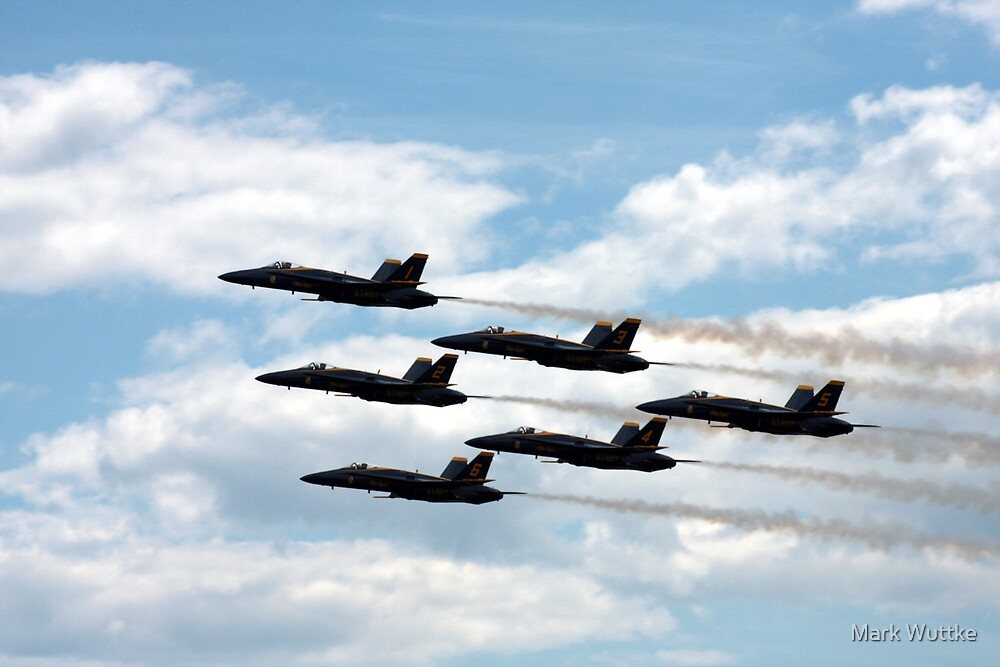 Blue Angels by Mark Wuttke