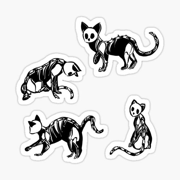Skeleton Cats Sticker