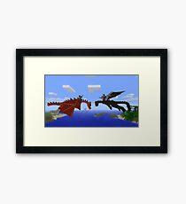 Minecraft- Dragon Framed Print