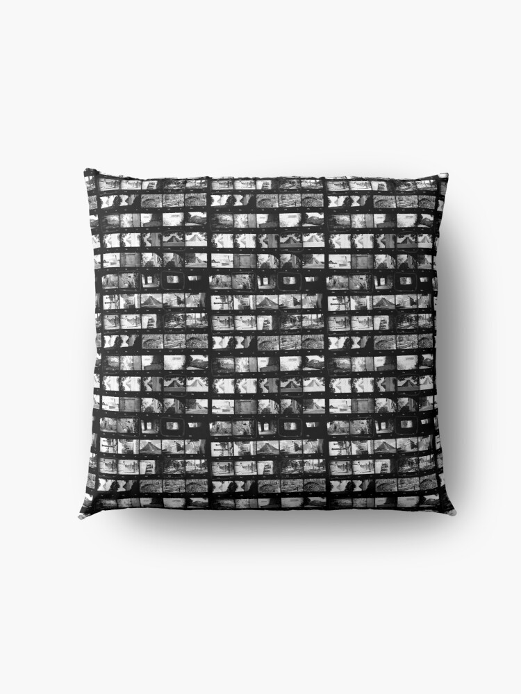 Alternate view of Contact Sheet Black And White Analogue Film Floor Pillow