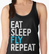 Eat Sleep Fly Repeat Women's Tank Top