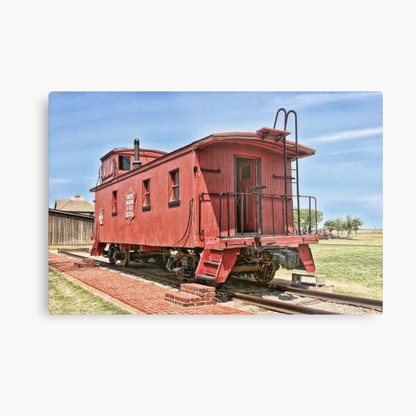 Oklahoma's CO&G Railroad Co. Metal Print