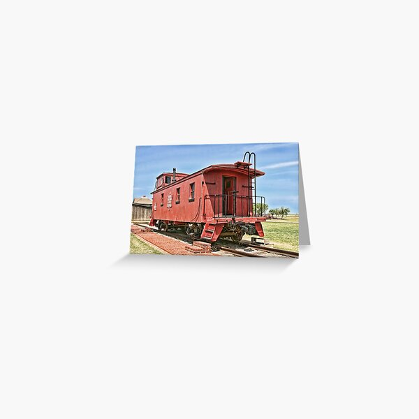 Oklahoma's CO&G Railroad Co. Greeting Card
