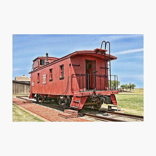 Oklahoma's CO&G Railroad Co. Photographic Print