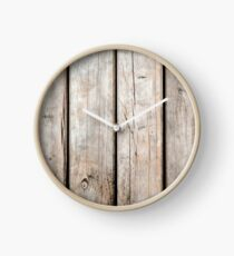Weathered Wooden Background Clock