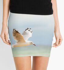 Bird Flying Over Ocean Mini Skirt
